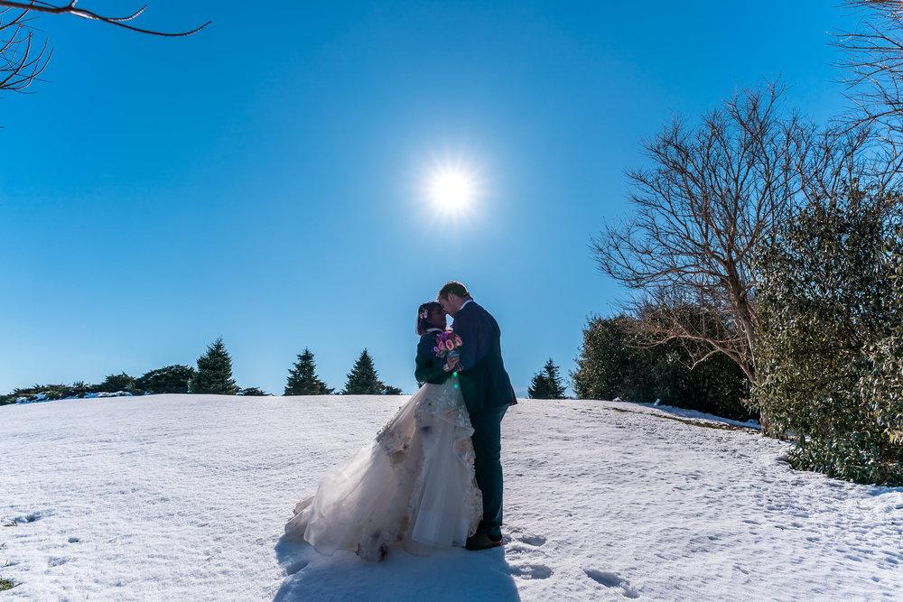 longwood-gardens-wedding-shoot-snow