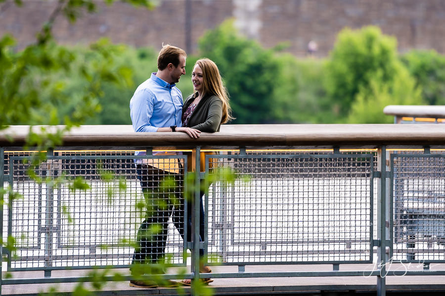 Back of the Waterworks Drive Engagement Photo
