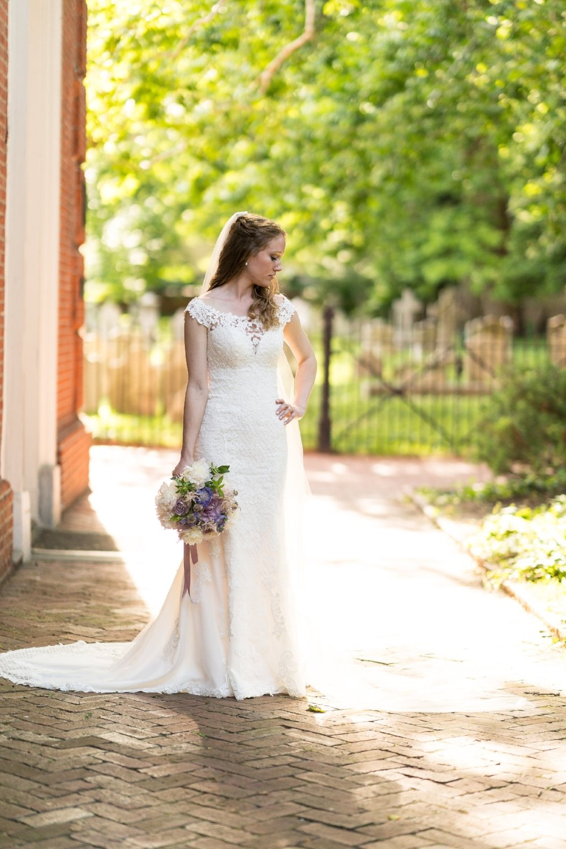 Wedding Gown by Stella York ; Hair/Makeup by Dina Alon Studio ; flowers by Petit Jardin en Ville