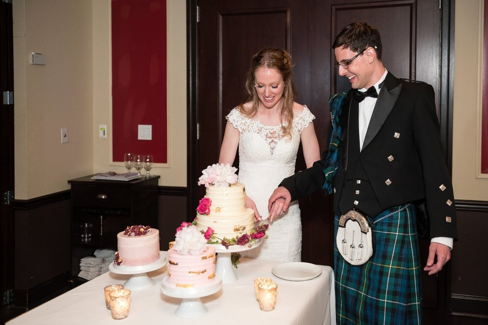 Reception at The Olde Bar ; Wedding Cake by Cake Life Bake Shop