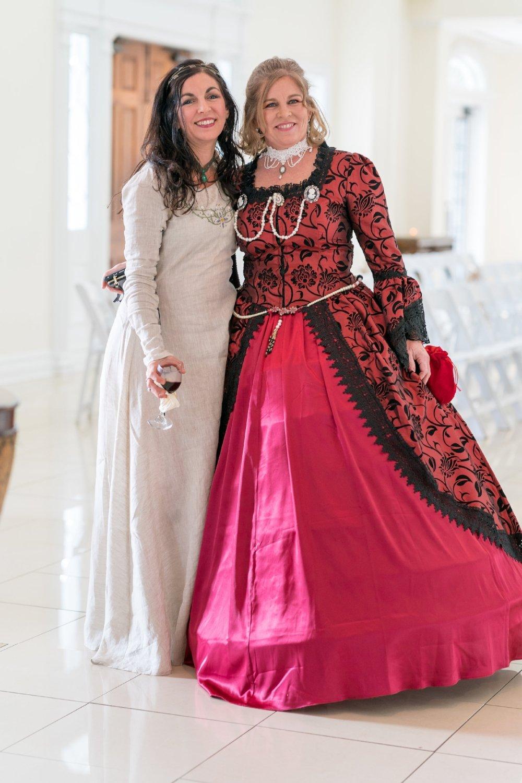 renaissance-themed-wedding-guests