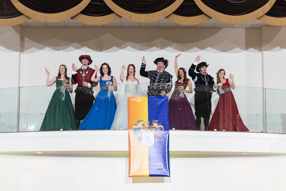 bridal-party-renaissance-entrance-reception