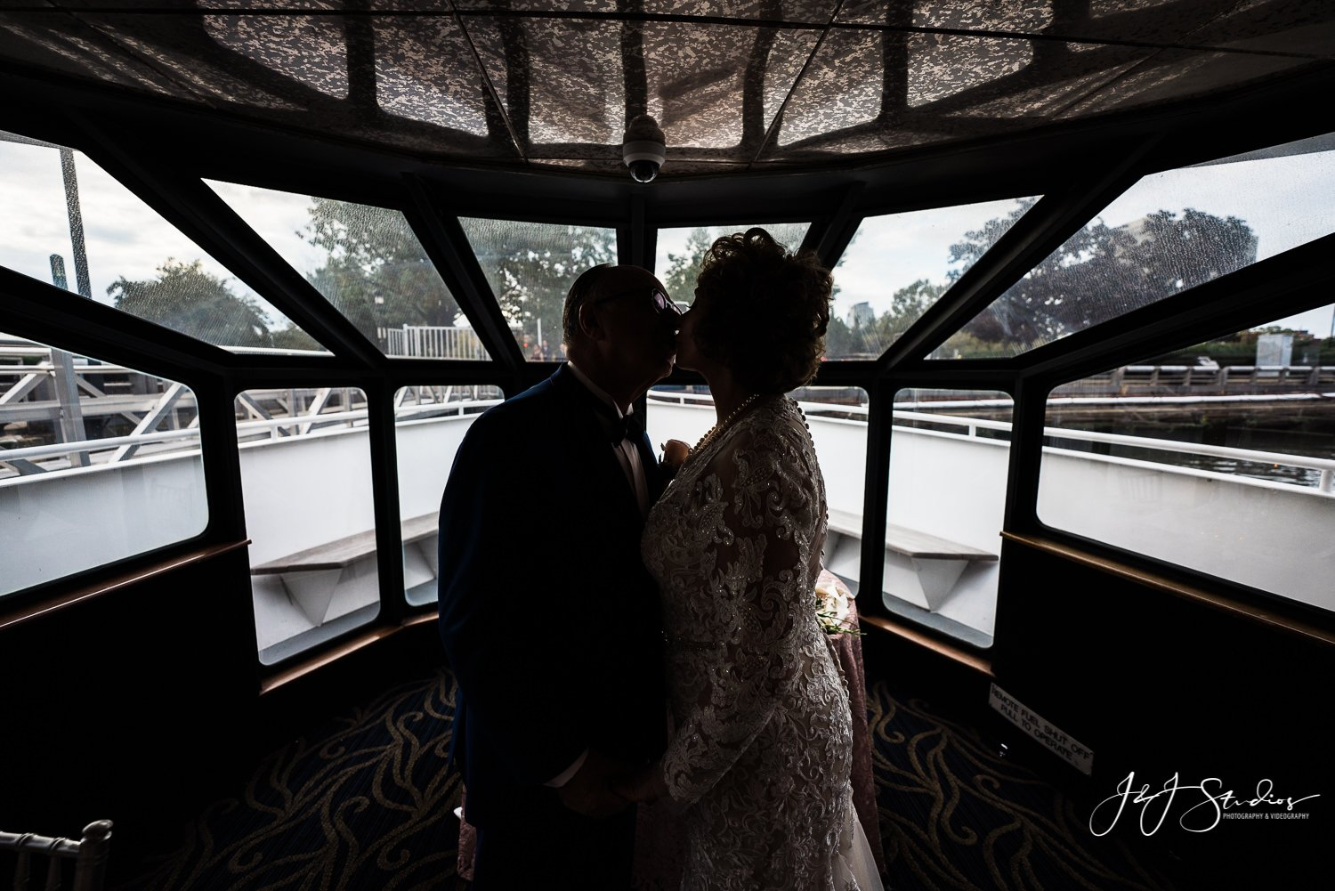silhouette of couple onboard freedom elite private yacht