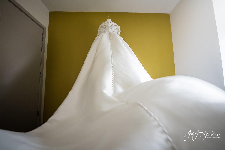 bride dress alone
