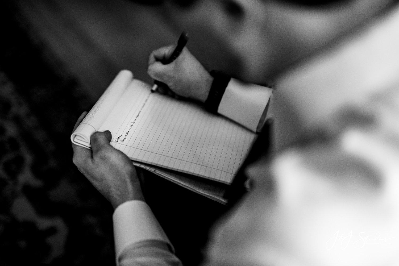 groom rewriting vows