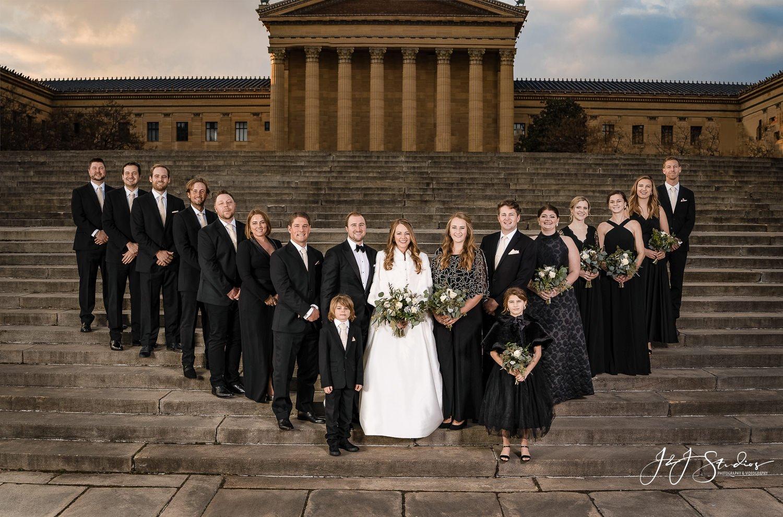 rocky steps bridal party