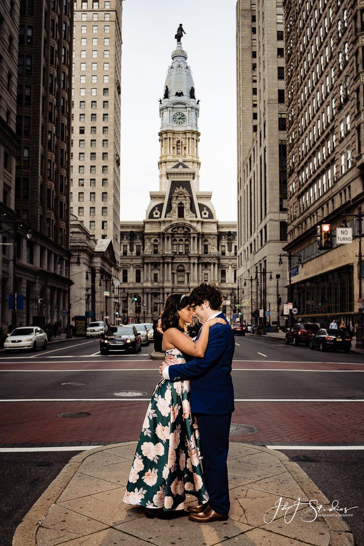 best city hall engagement photographer