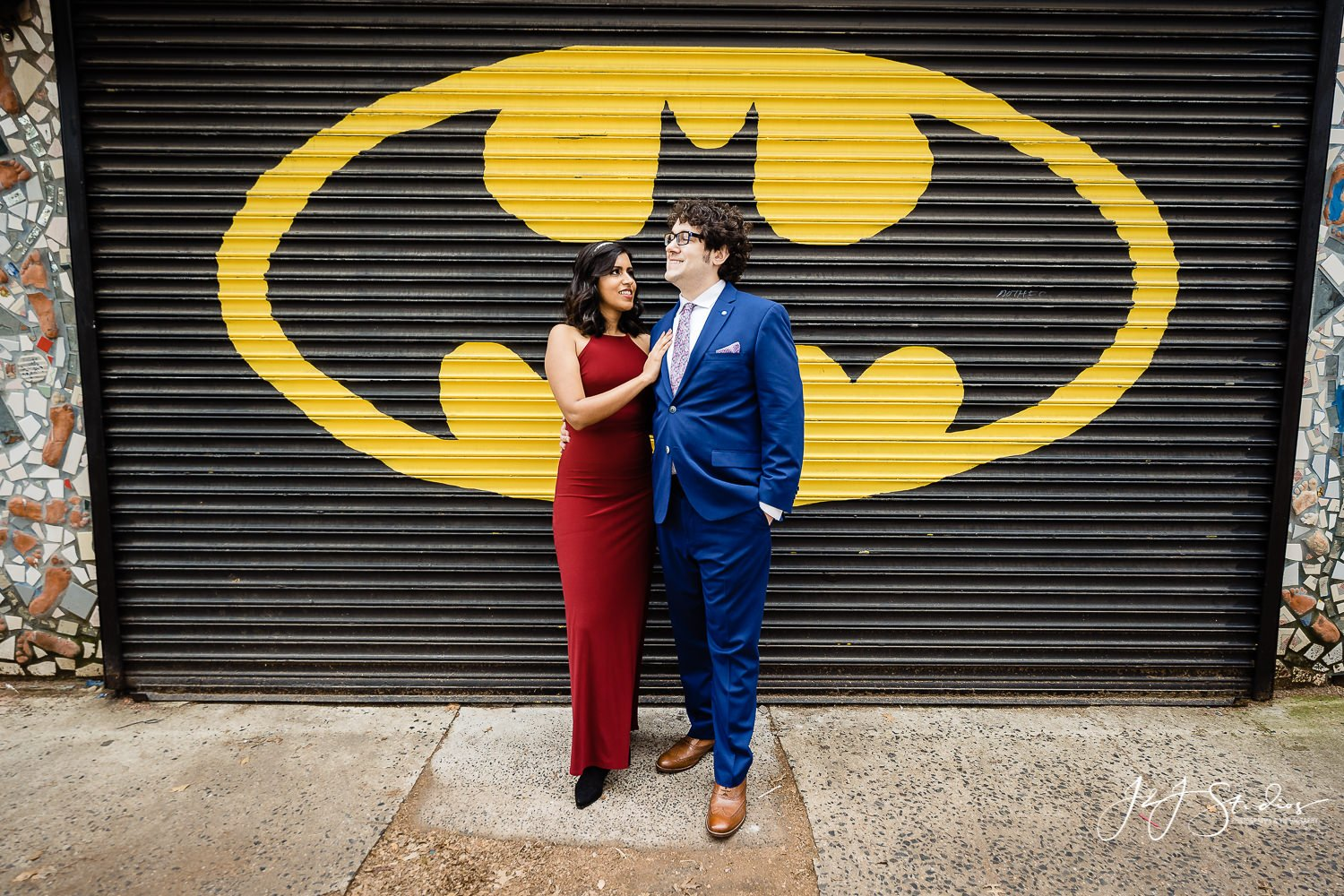 crazy philly engagement shoot