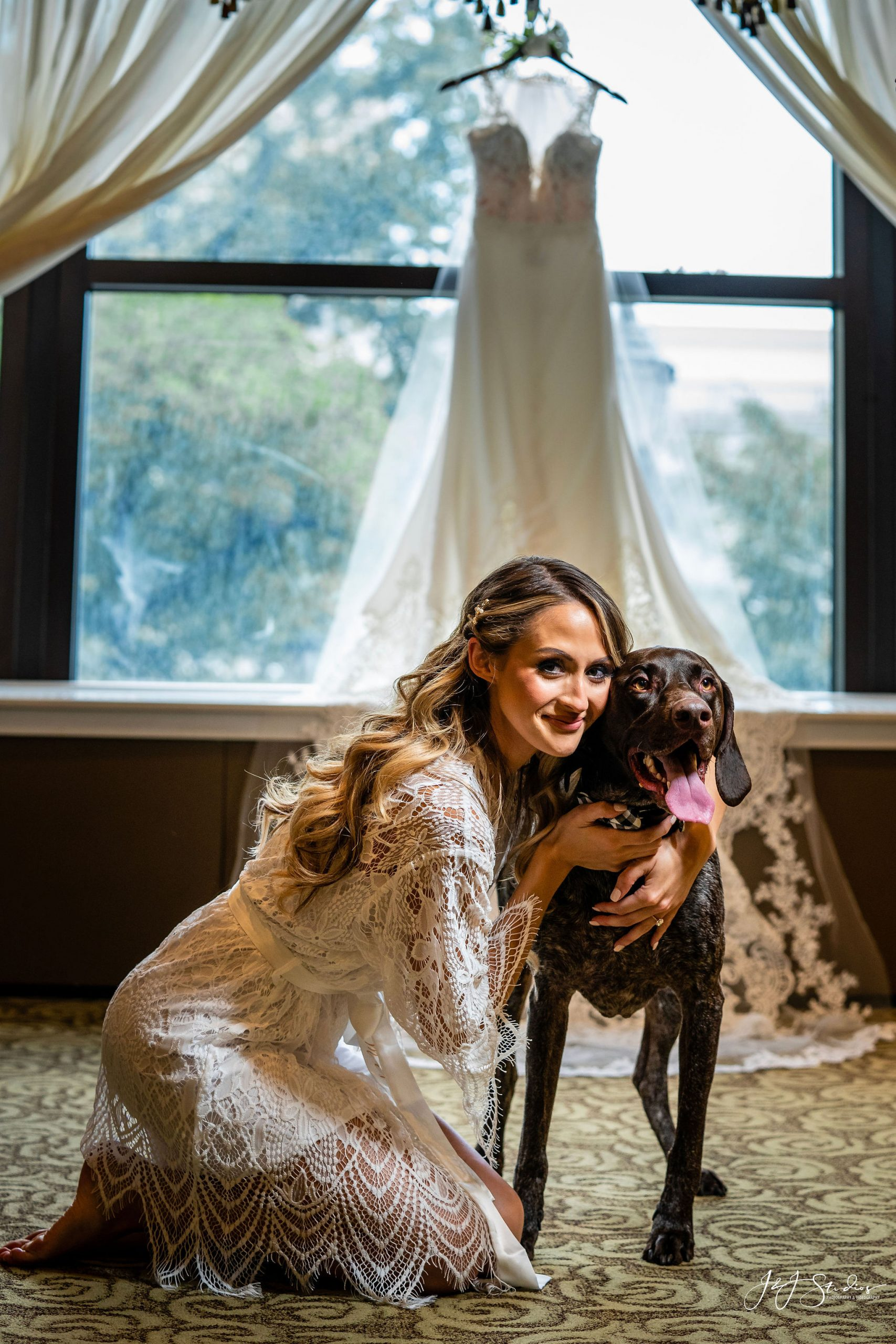 bride and her dog hotel dupont