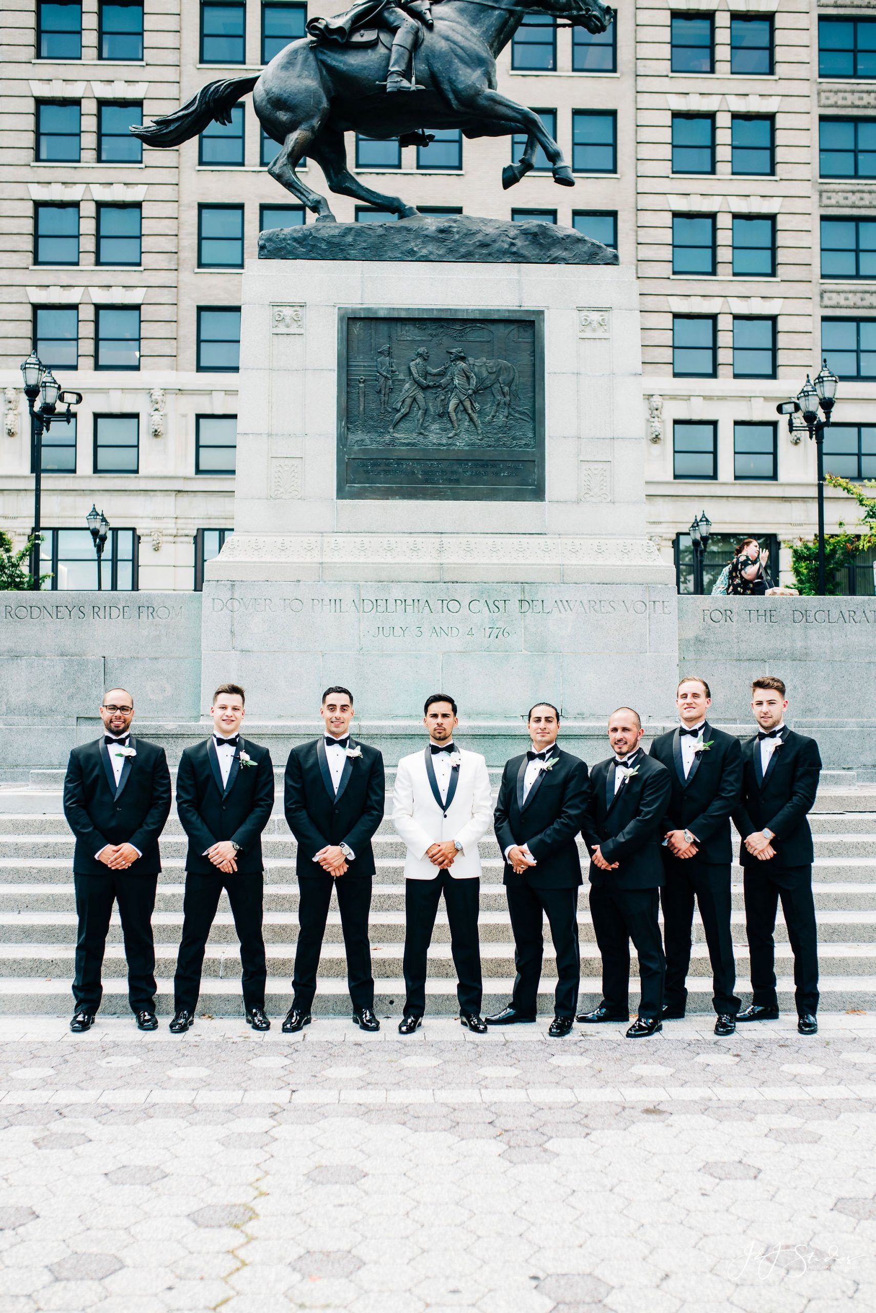 hotel dupont bridal party by photographer john ryan jj studios