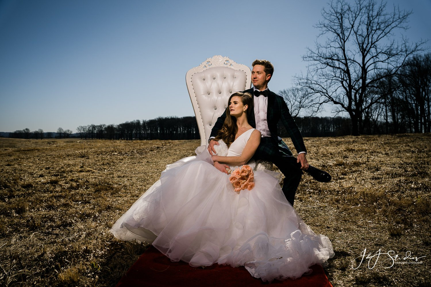 rent all affairs white throne chair wedding shoot