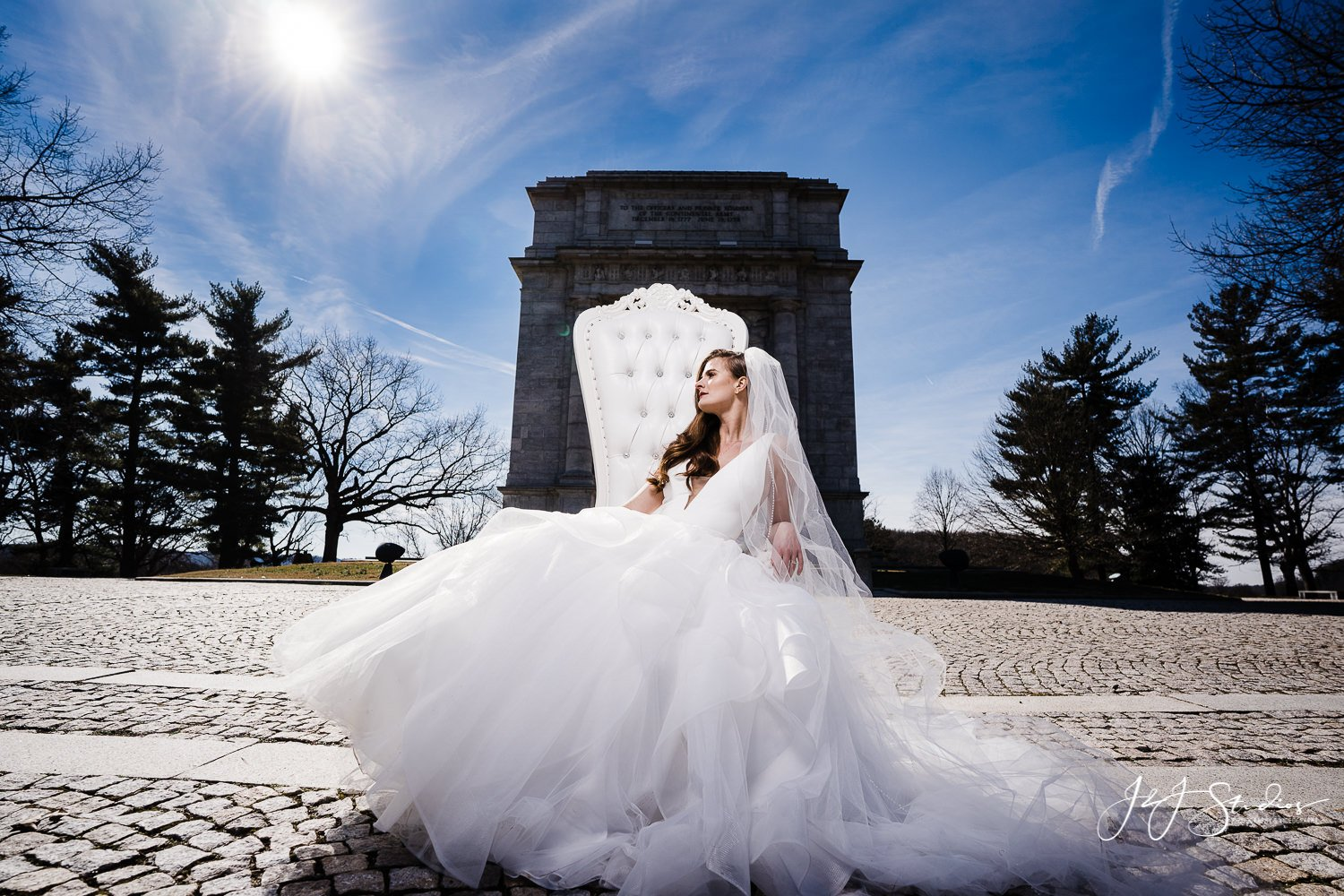 bridal portraits philly