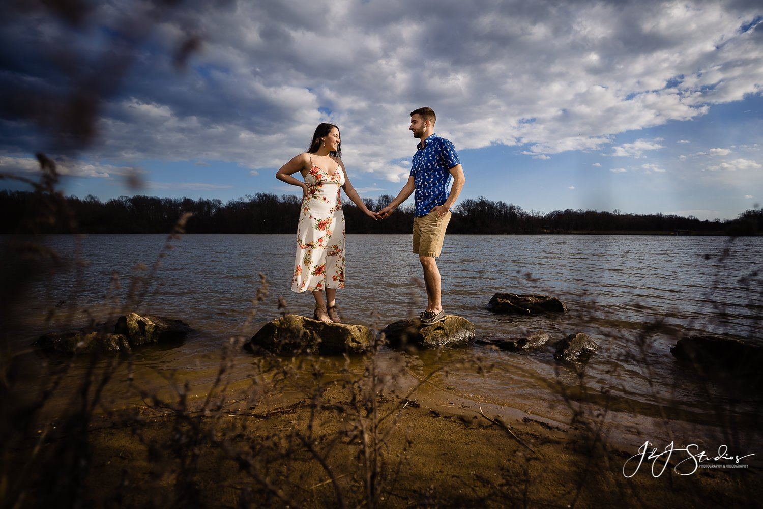 Lake Luxembourg couples portraits