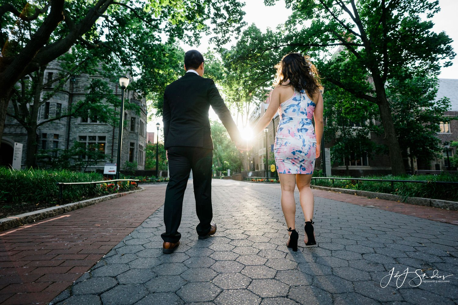 university of pennsylvania engagement pictures