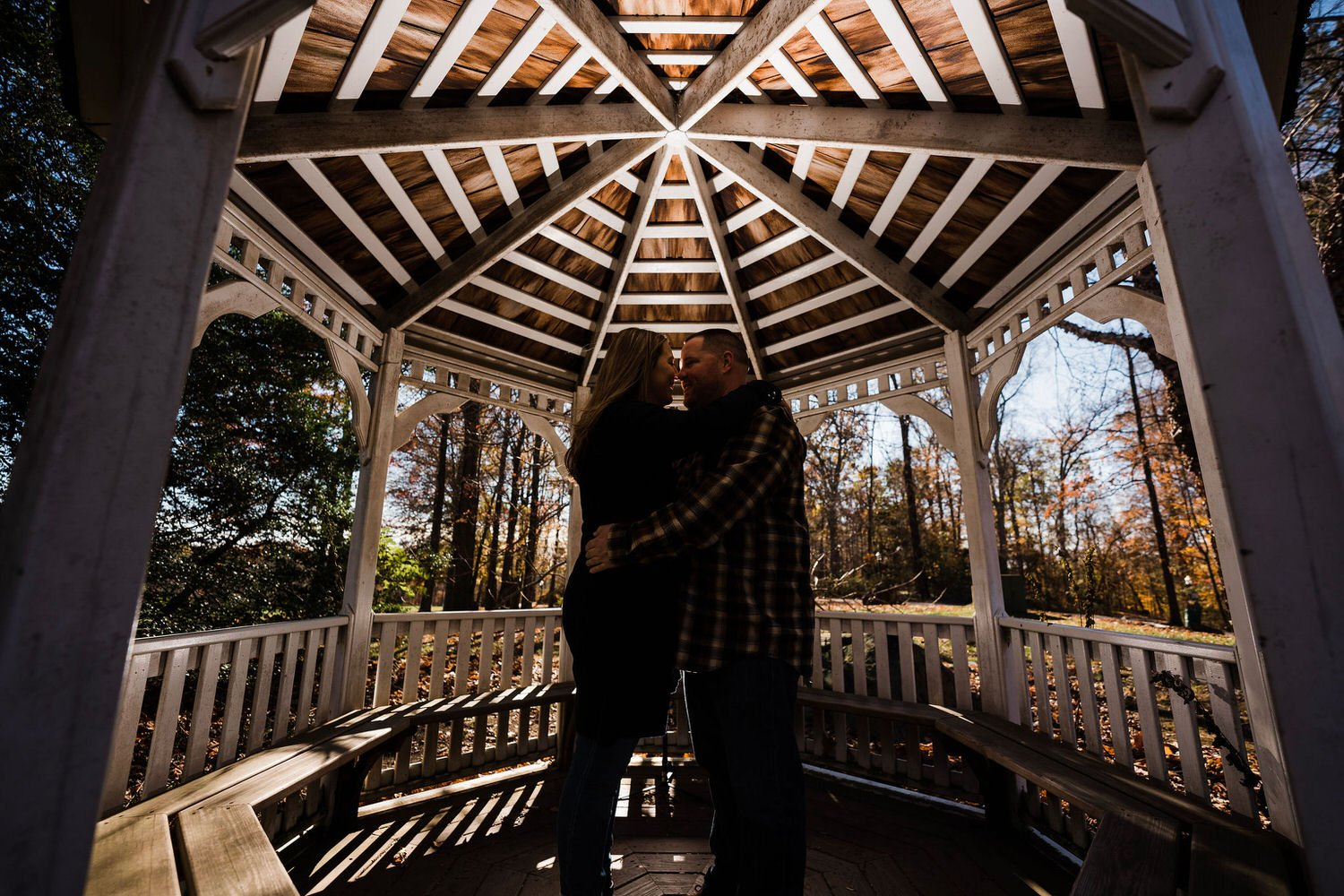 The Carriage House at Rockwood Park engagement