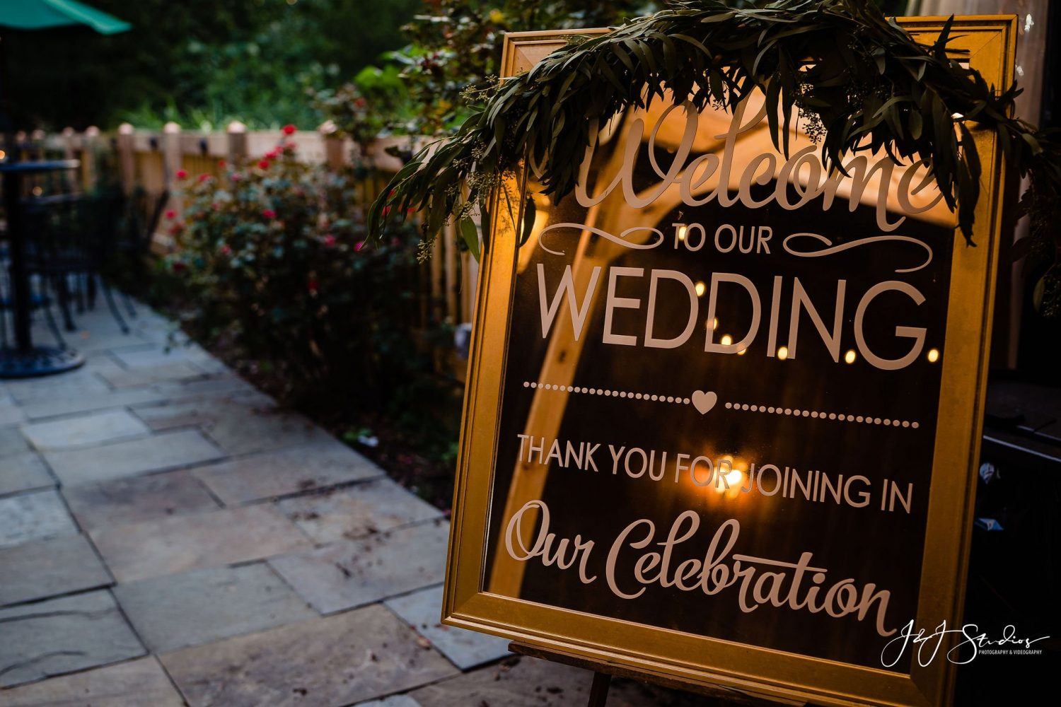 Welcome to our wedding sign celebrate