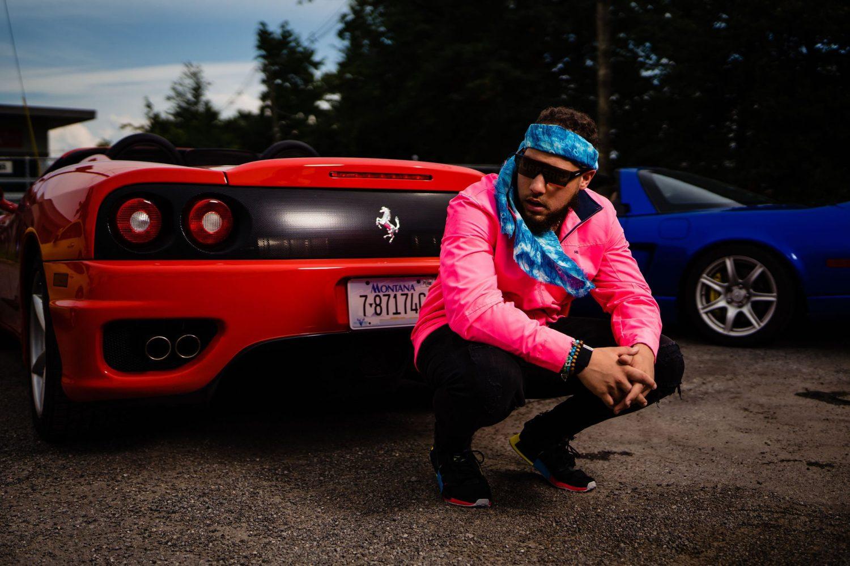 blue bandana red car Ali Doukali rapper watch