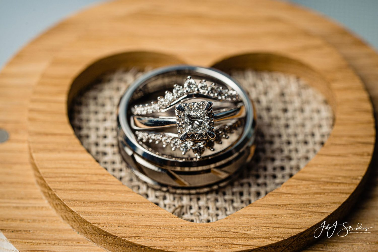 engagement ring wedding bands heart sterling silver