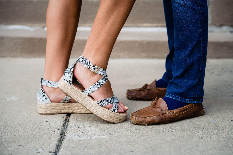 cute sandals guys shoes engagement NJ photography