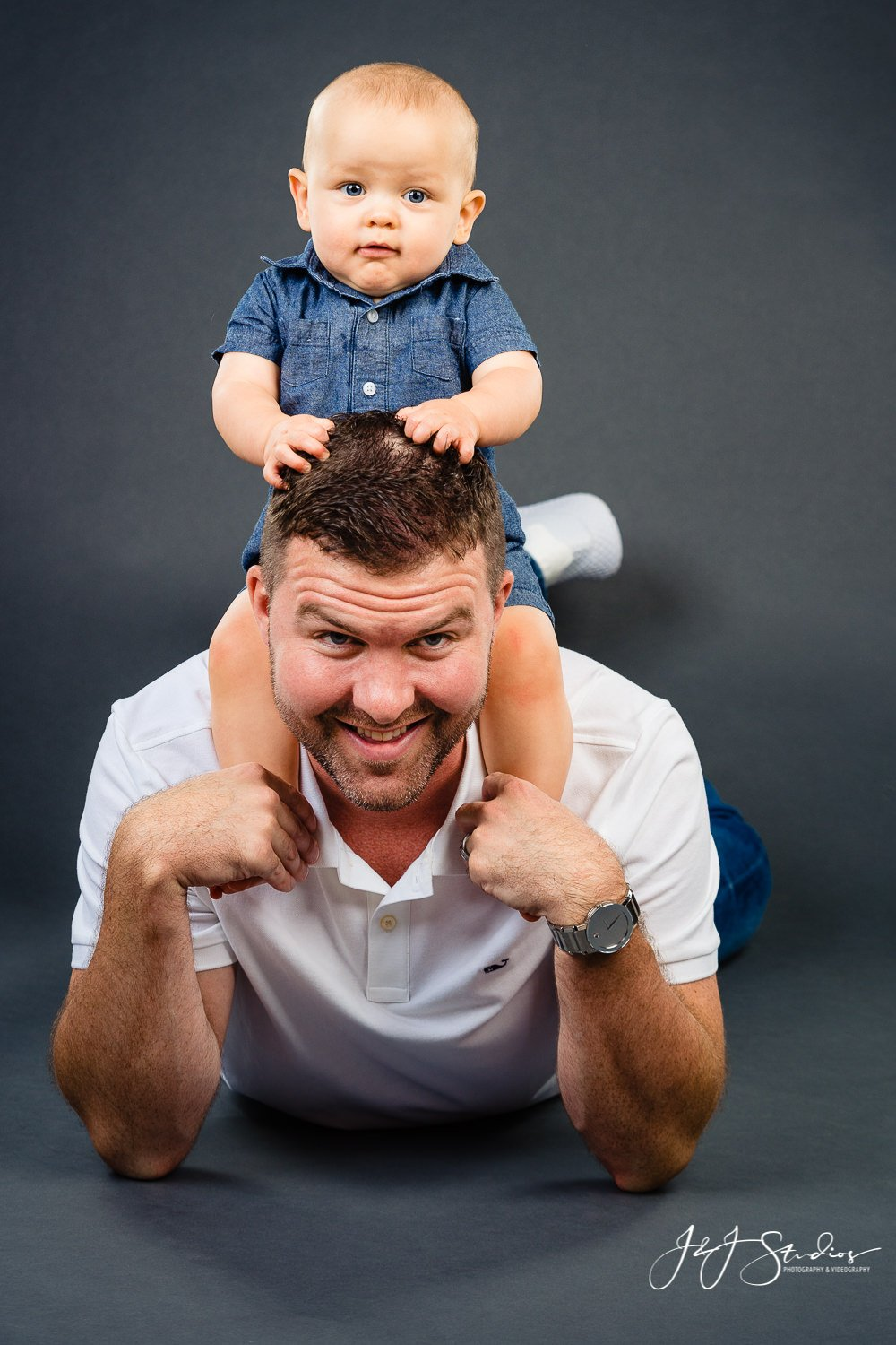 dad and son photo shoot