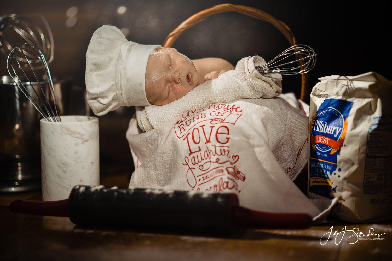 baby cook newborn photo