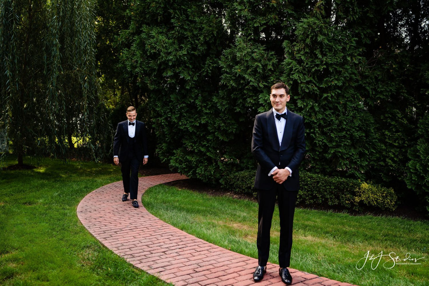 first look with two grooms