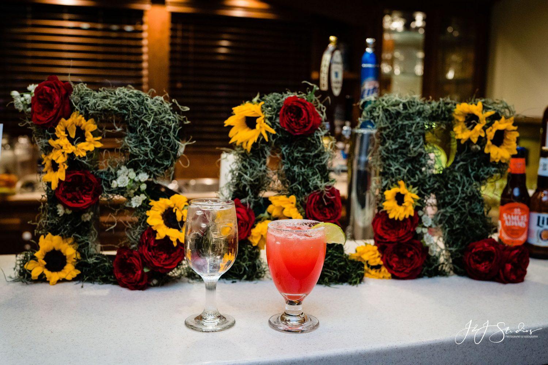 BAR wedding sign signature drinks