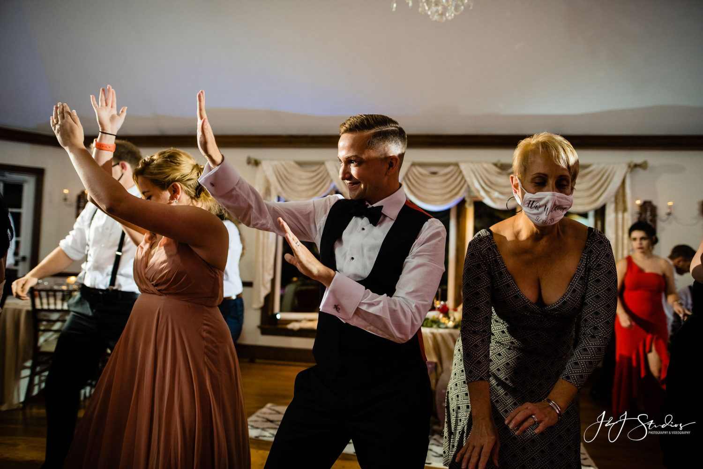 people dancing masks COVID-19