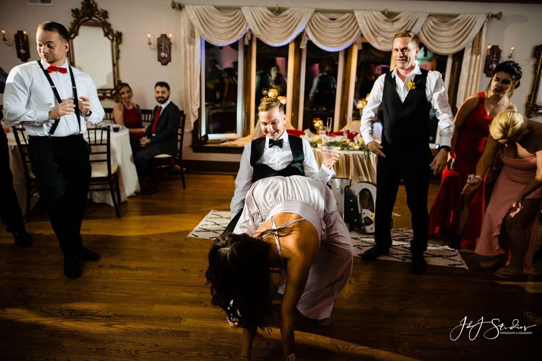 girl twerking on guy in chair