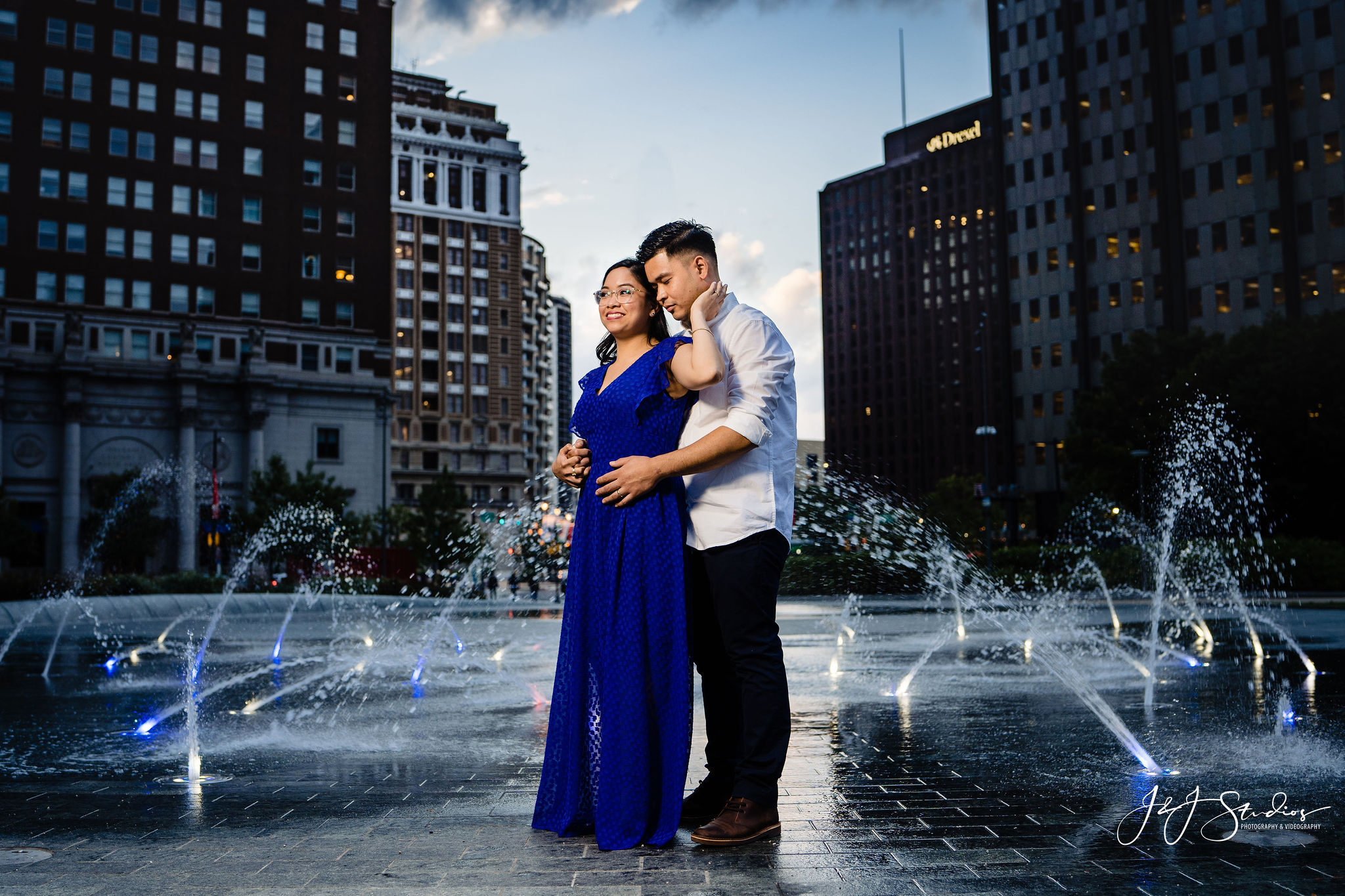 philly fountain wedding photography
