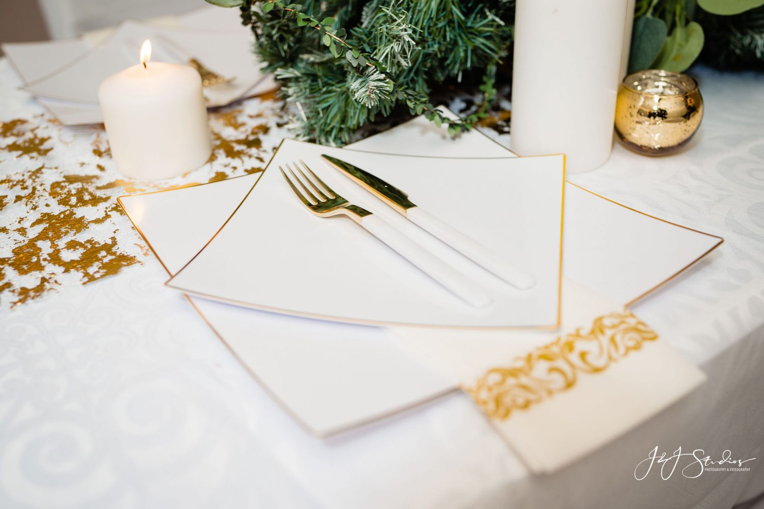engagement party place setting