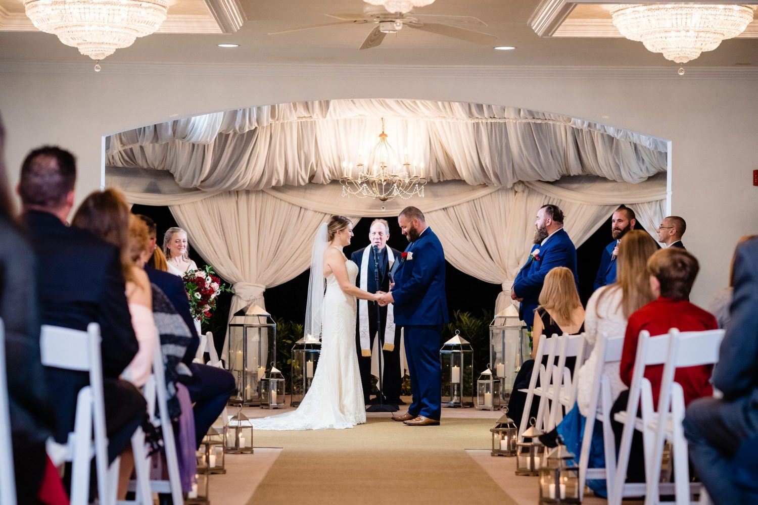ceremony for Philly Micro Wedding Photographer