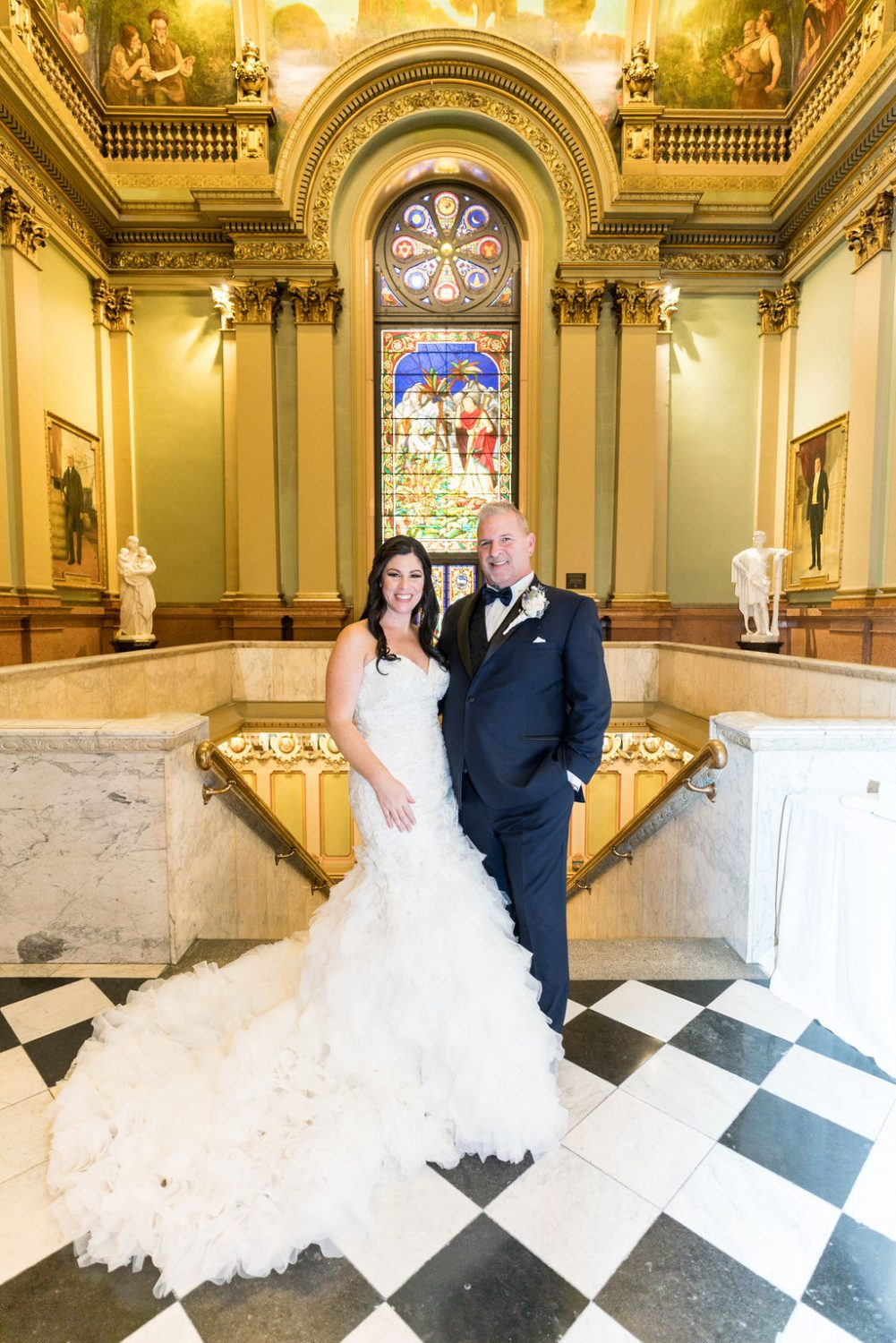 Stunning bride and groom pic One North Broad Wedding
