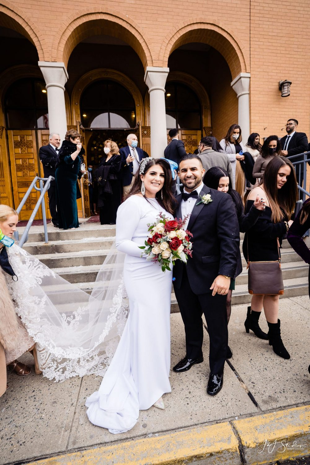 Bride and Groom after  Orthodox Wedding Session