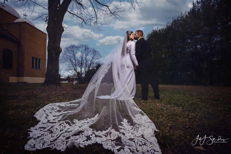 Beautiful newly married couple