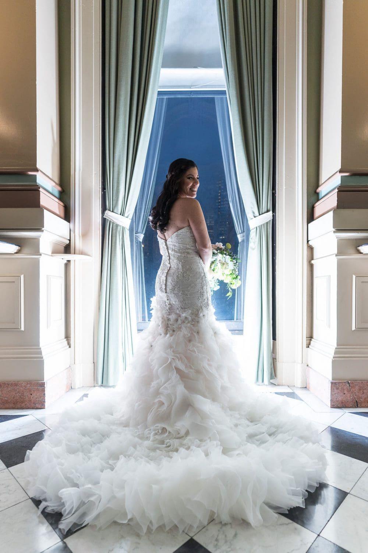 Beautiful Bride's dress One North Broad Wedding