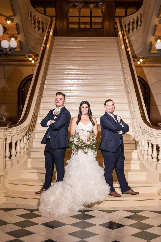 Bride and Groomsmen One North Broad Wedding