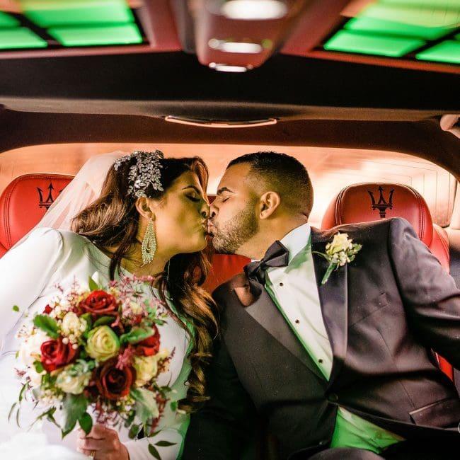 Gemma and Steve kissing aftter Greek Orthodox Wedding Session