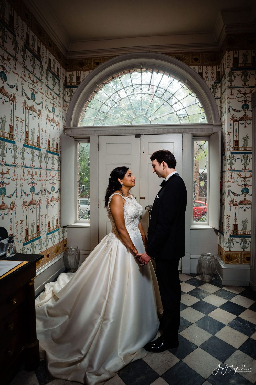 Bride and groom Philly Micro Wedding Photographer