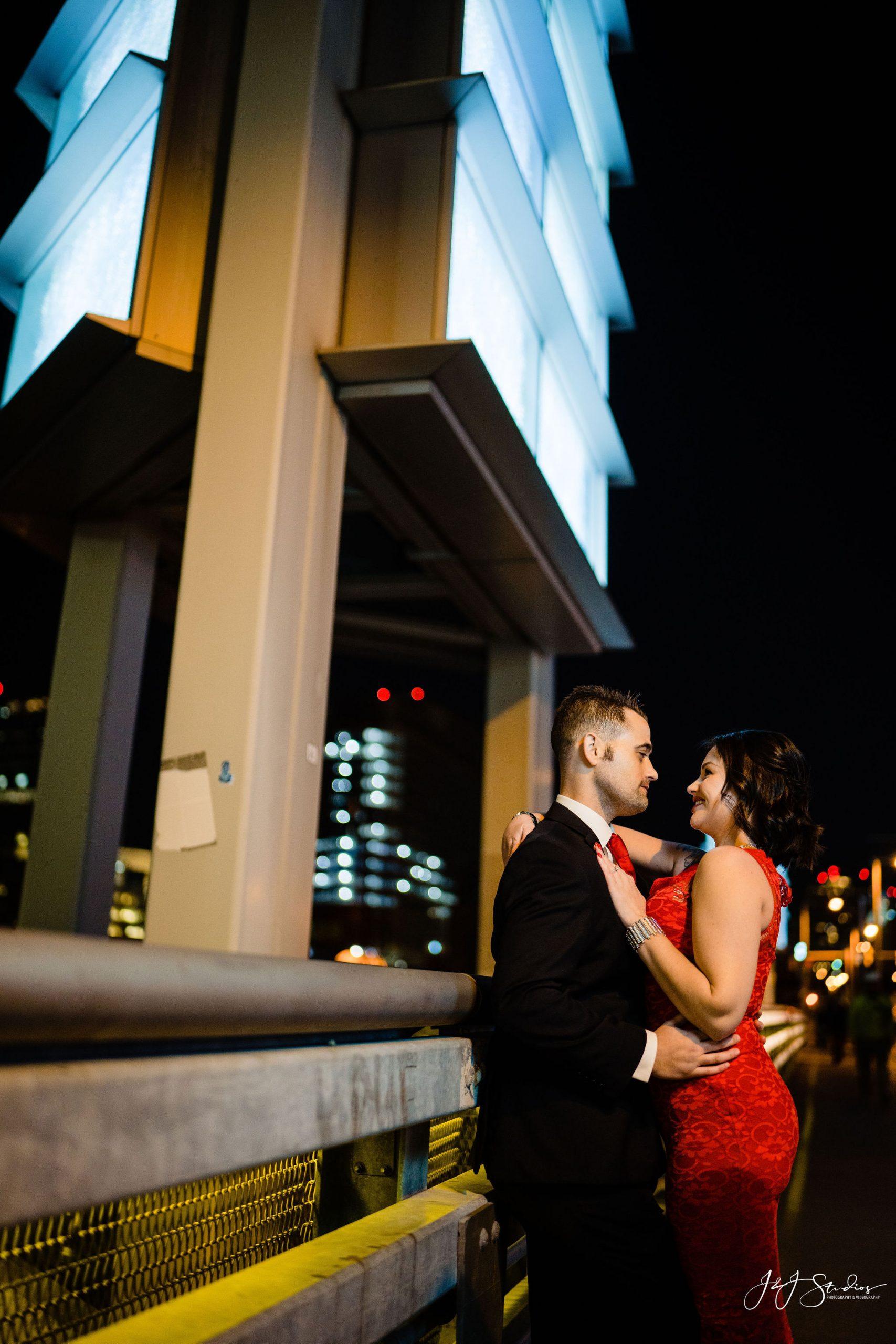 night philadelphia engagement photography