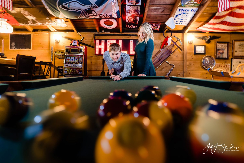 engagement pool photo