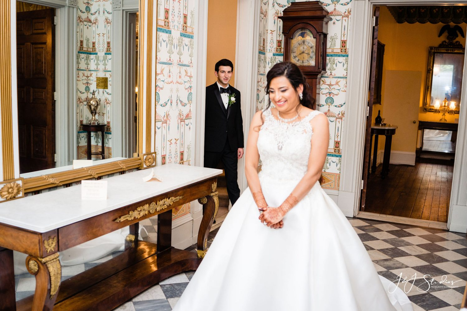 Bride Indoor Hill Physick House PA Wedding Venues