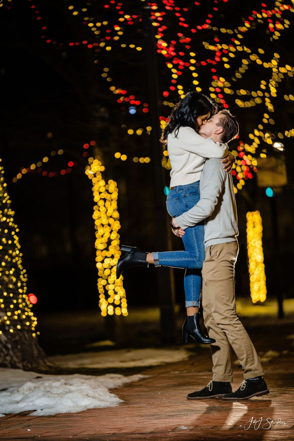 Fiance jumps in his arms Franklin Square Surprise Proposal