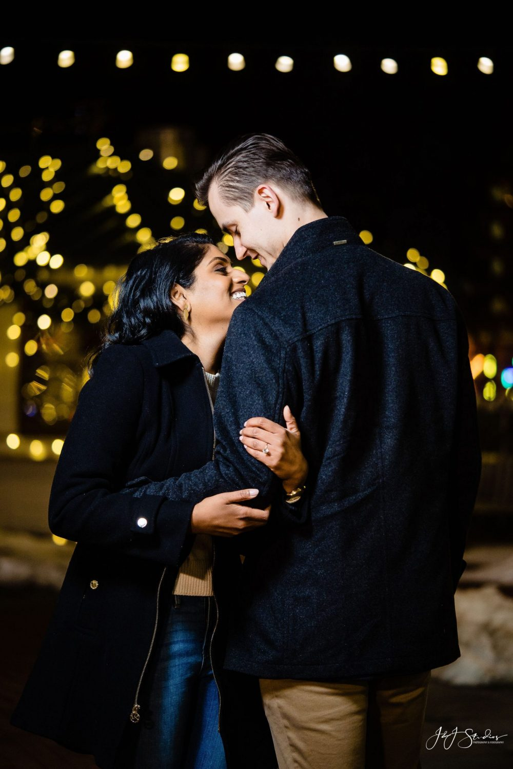 Engaged couple Franklin Square Surprise Proposal
