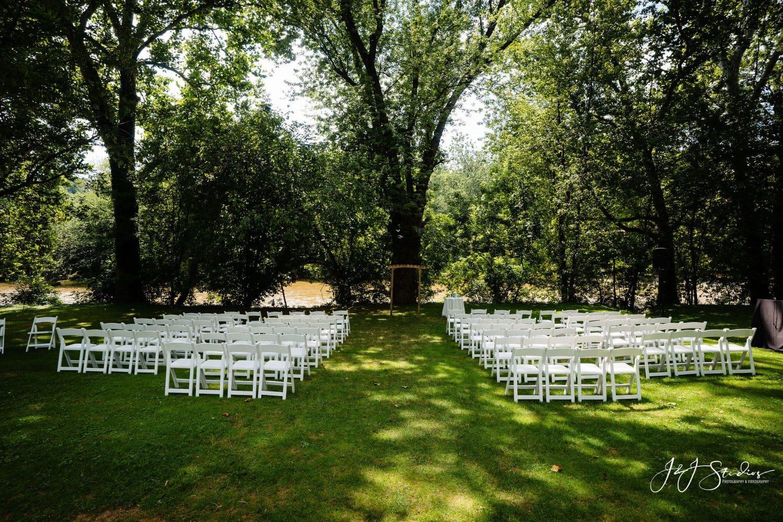 Empty wedding venue