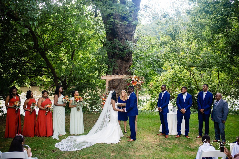 Bride and Groom Outside PA Wedding Venues