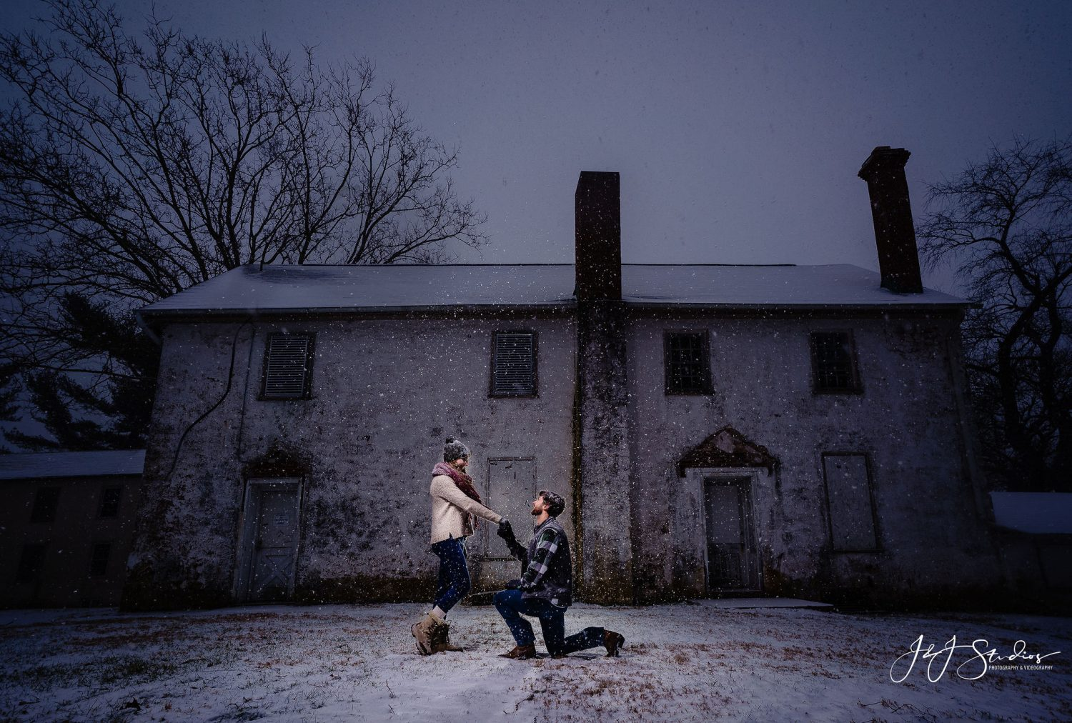 history snow house engagement