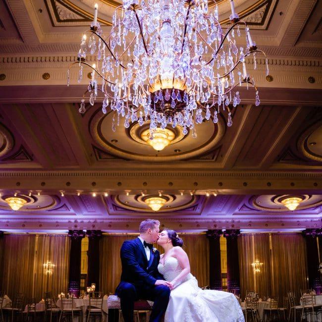 Bride and Groom Crystal Tea Room