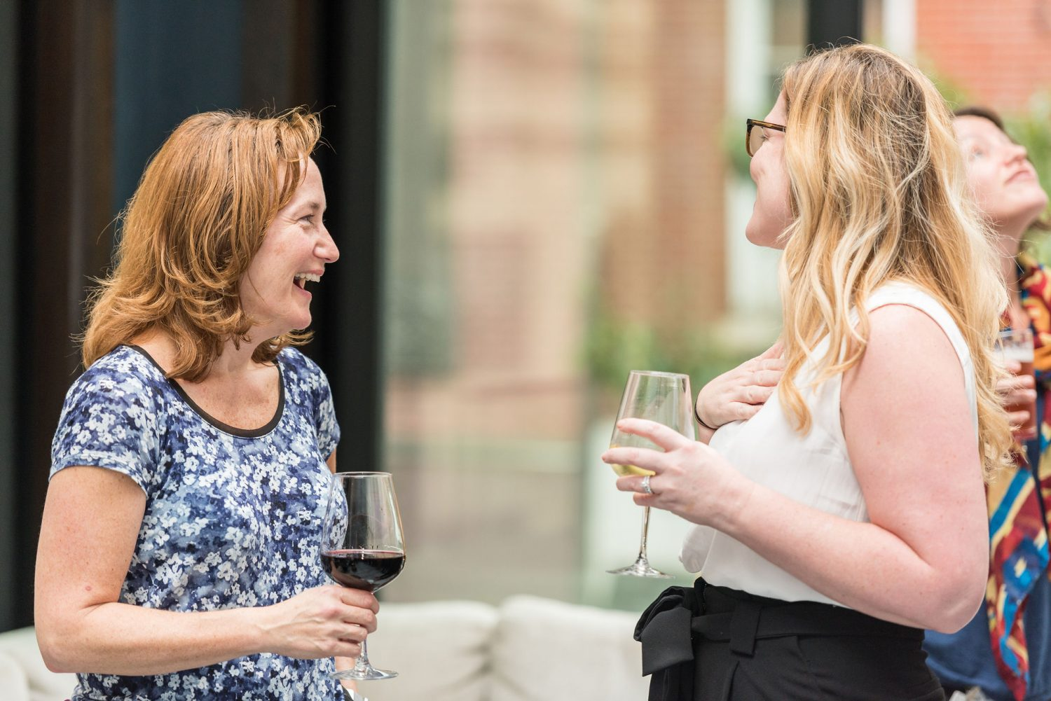 Women Laughing with Wine