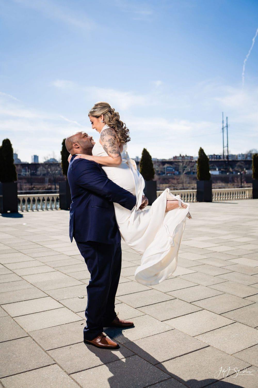 Just married Philadelphia